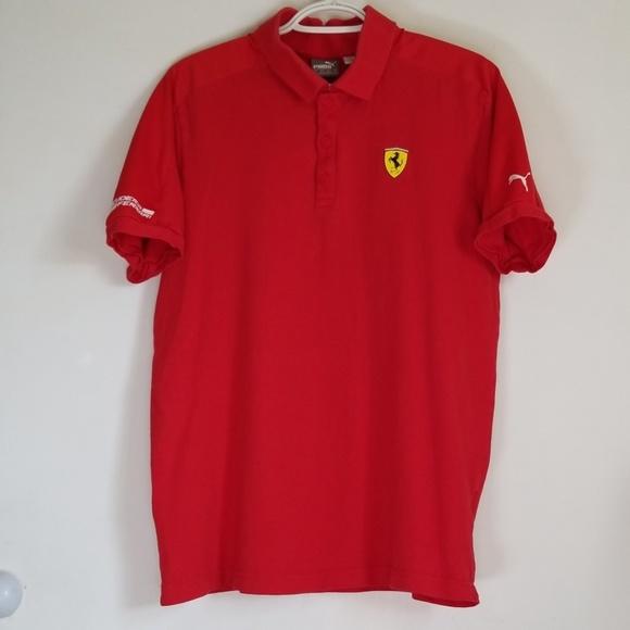 1e8dc1ed7b Scuderia Ferrari Puma 10th Anniversary Polo Shirt